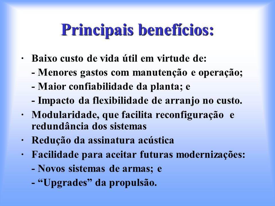 Principais benefícios: ·Baixo custo de vida útil em virtude de: - Menores gastos com manutenção e operação; - Maior confiabilidade da planta; e - Impa