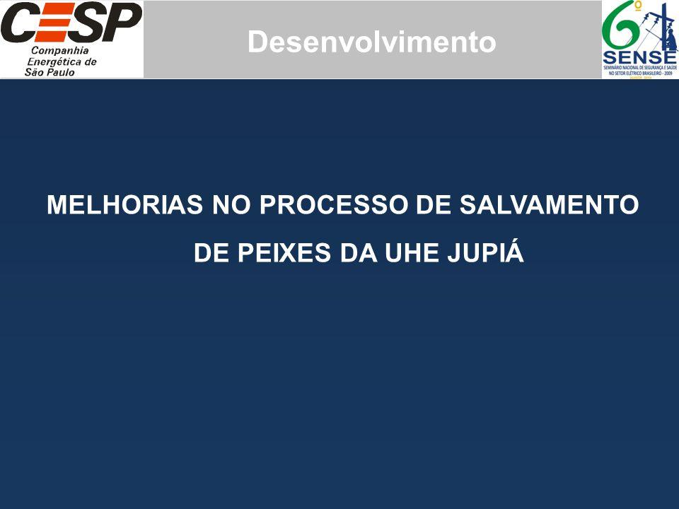 Desenvolvimento MELHORIAS NO PROCESSO DE SALVAMENTO DE PEIXES DA UHE JUPIÁ