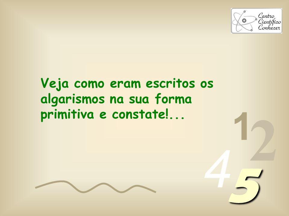 1 2 4 5 É a quantidade de ângulos no algarismo