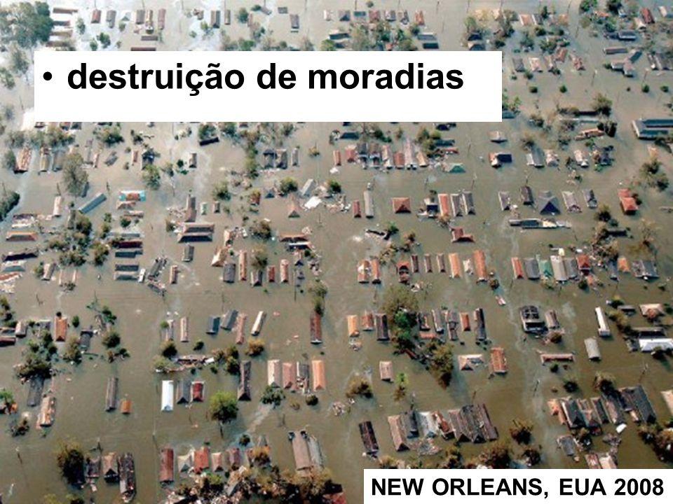 destruição de moradias NEW ORLEANS, EUA 2008