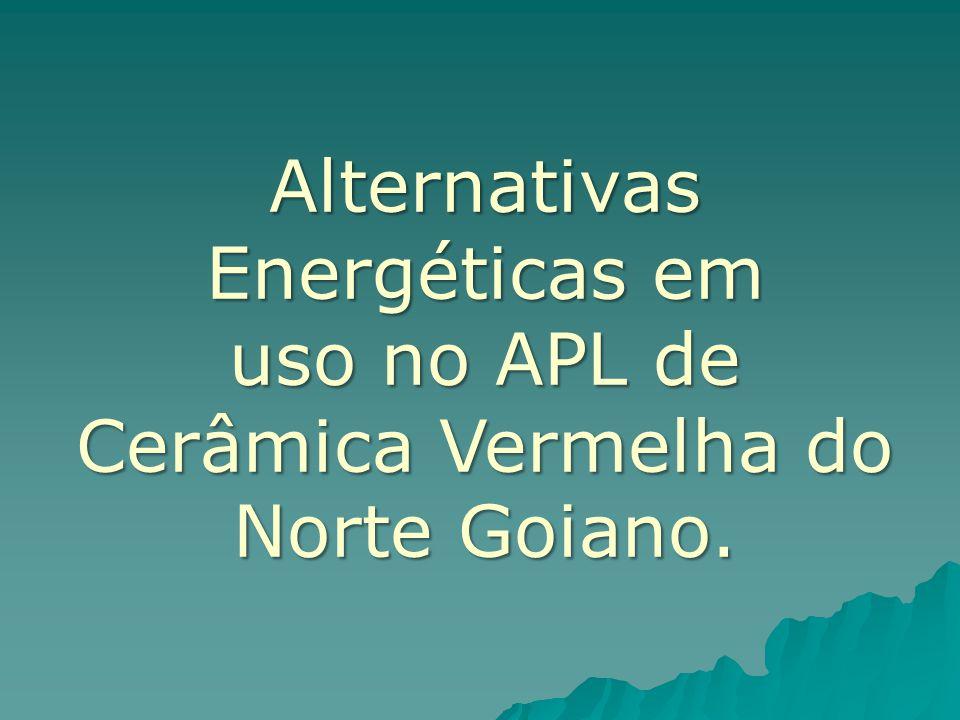 Alternativas Energéticas em uso no APL de Cerâmica Vermelha do Norte Goiano.