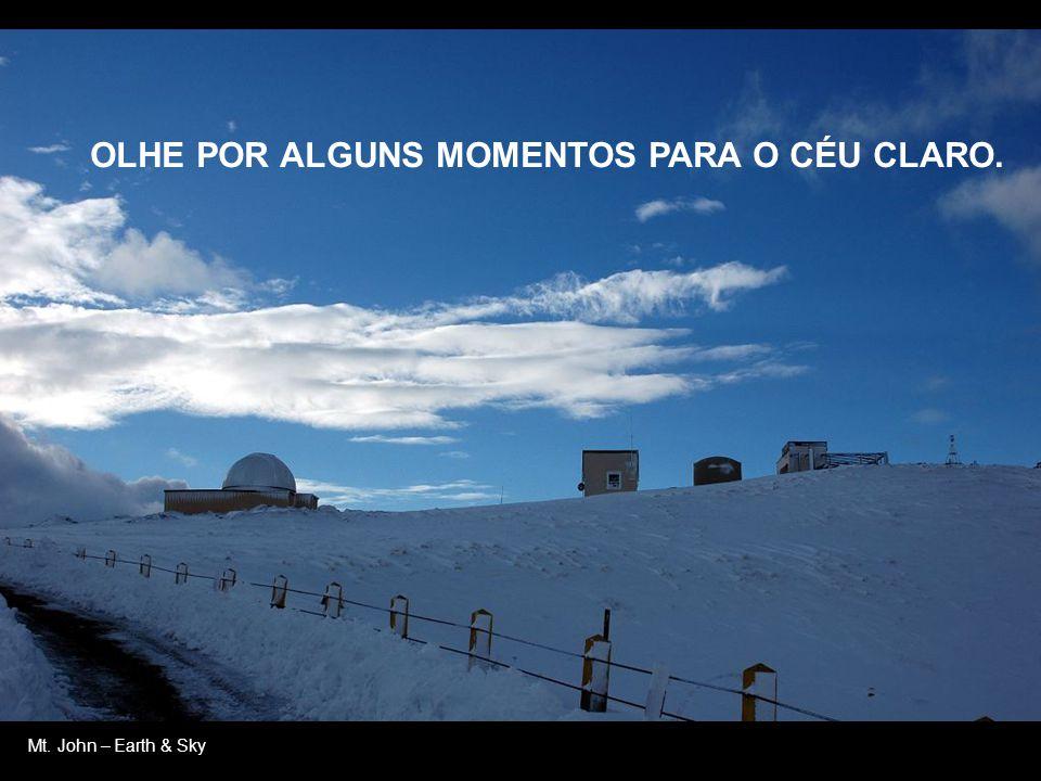 Mt. John - HOJE É DIA DE UM NOVO COMEÇO, TEMPO DE TRATAR A TERRA COM MAIS AMOR, RESPEITAR A NATUREZA.