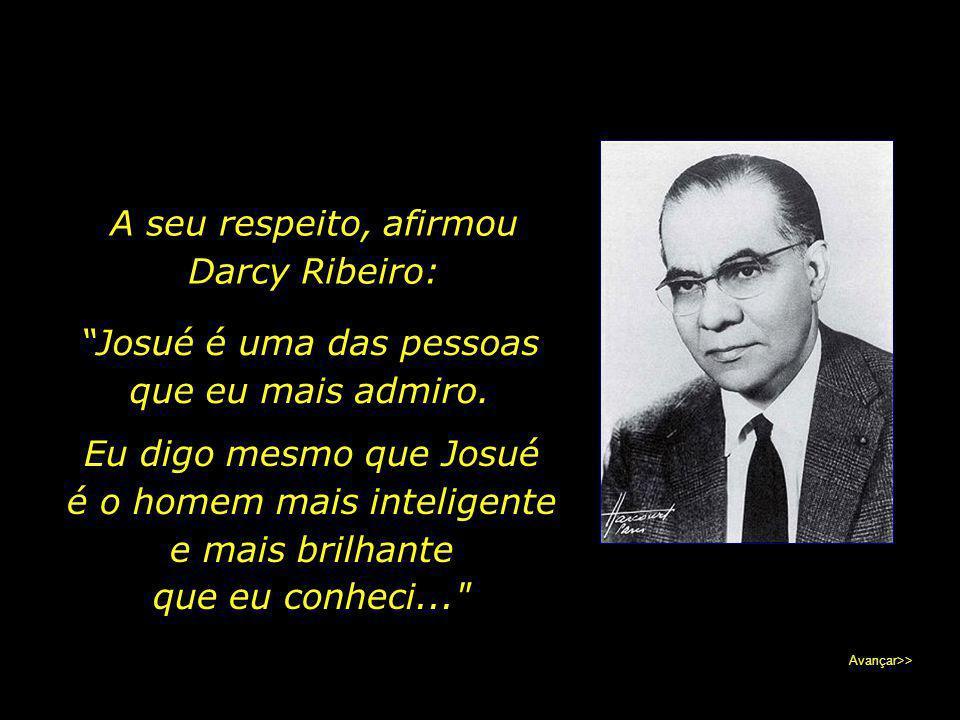 A inserção da temática da fome no panorama político, científico e moral no Brasil deve-se aos seus incansáveis esforços. Avançar>>