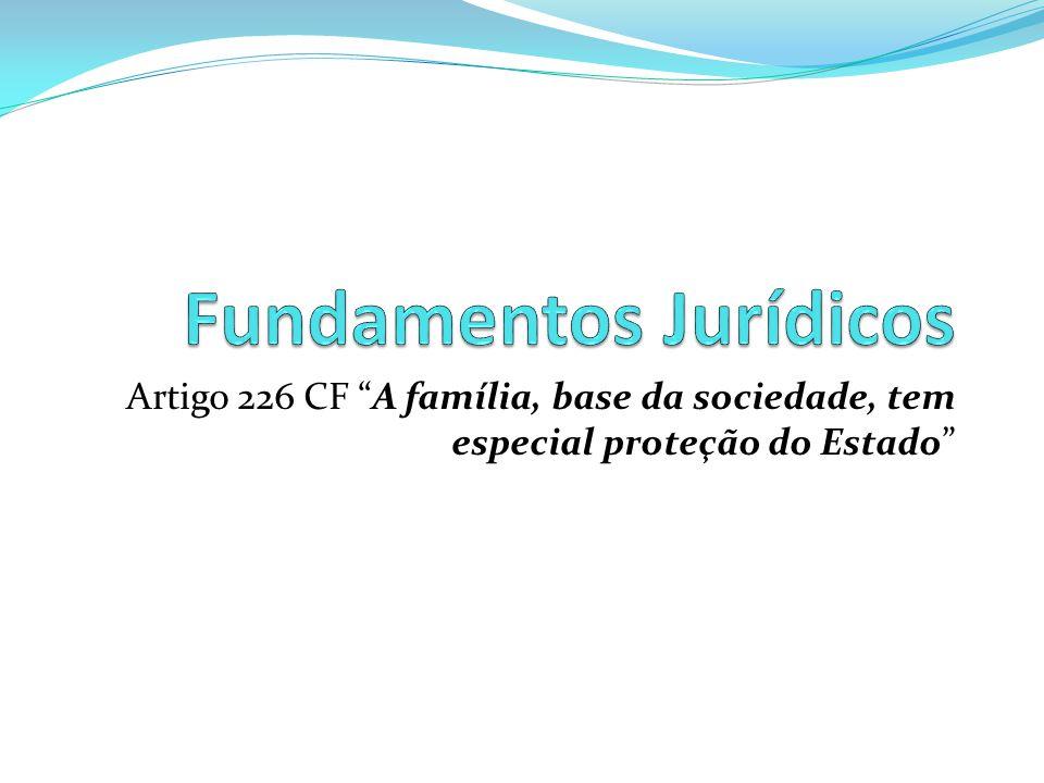 """Artigo 226 CF """"A família, base da sociedade, tem especial proteção do Estado"""""""