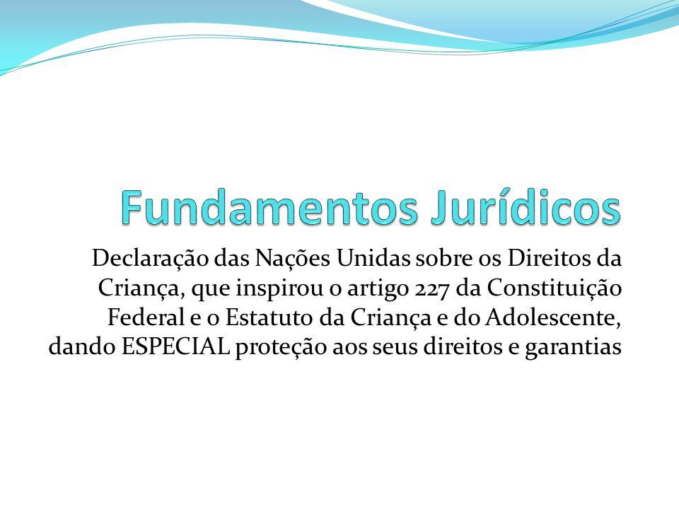 Declaração das Nações Unidas sobre os Direitos da Criança, que inspirou o artigo 227 da Constituição Federal e o Estatuto da Criança e do Adolescente,