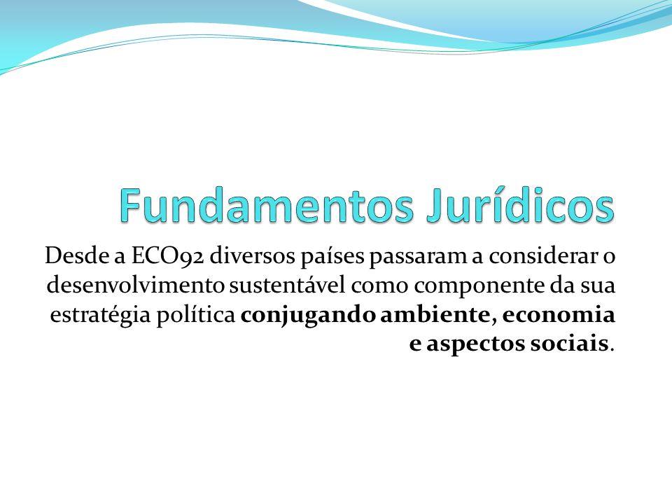 Desde a ECO92 diversos países passaram a considerar o desenvolvimento sustentável como componente da sua estratégia política conjugando ambiente, econ