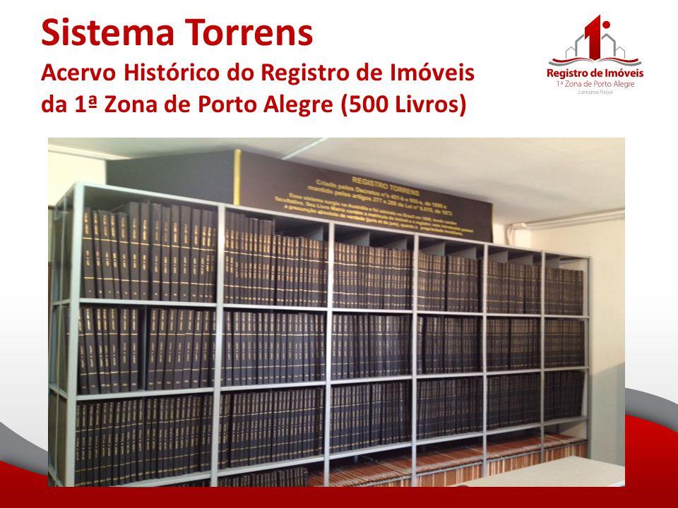 Sistema Torrens Acervo Histórico do Registro de Imóveis da 1ª Zona de Porto Alegre (500 Livros)
