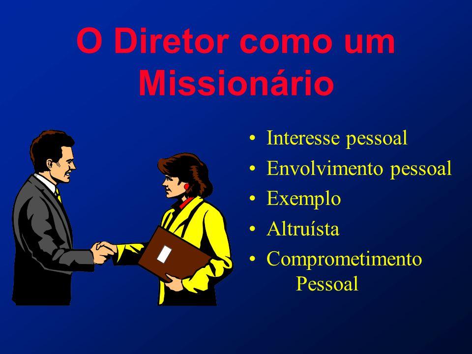 O Diretor como um Missionário Interesse pessoal Envolvimento pessoal Exemplo Altruísta Comprometimento Pessoal