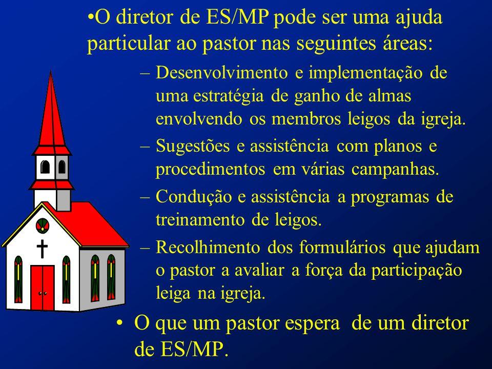 –Desenvolvimento e implementação de uma estratégia de ganho de almas envolvendo os membros leigos da igreja. –Sugestões e assistência com planos e pro