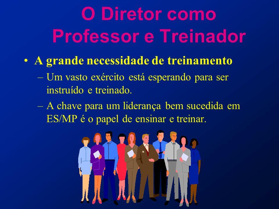 O Diretor como Professor e Treinador A grande necessidade de treinamento –Um vasto exército está esperando para ser instruído e treinado. –A chave par