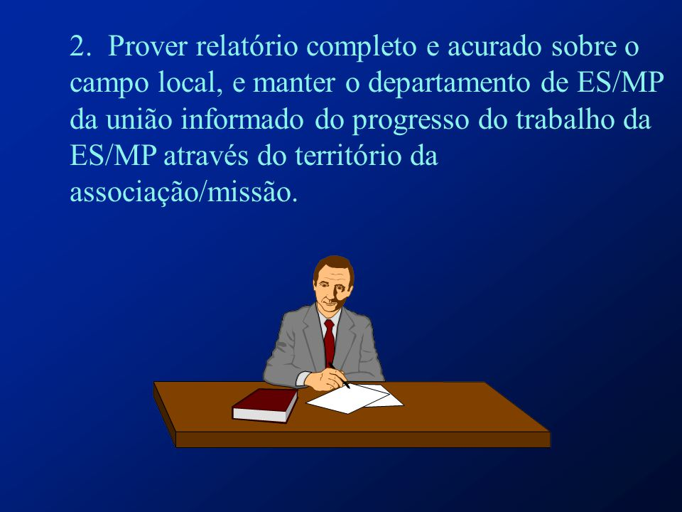 Relacionamento entre Diretores de ES/MP Introdução: Há quatro níveis de organização das associações.