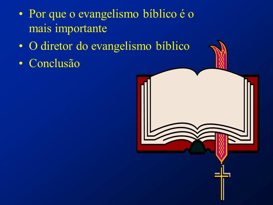 Por que o evangelismo bíblico é o mais importante O diretor do evangelismo bíblico Conclusão
