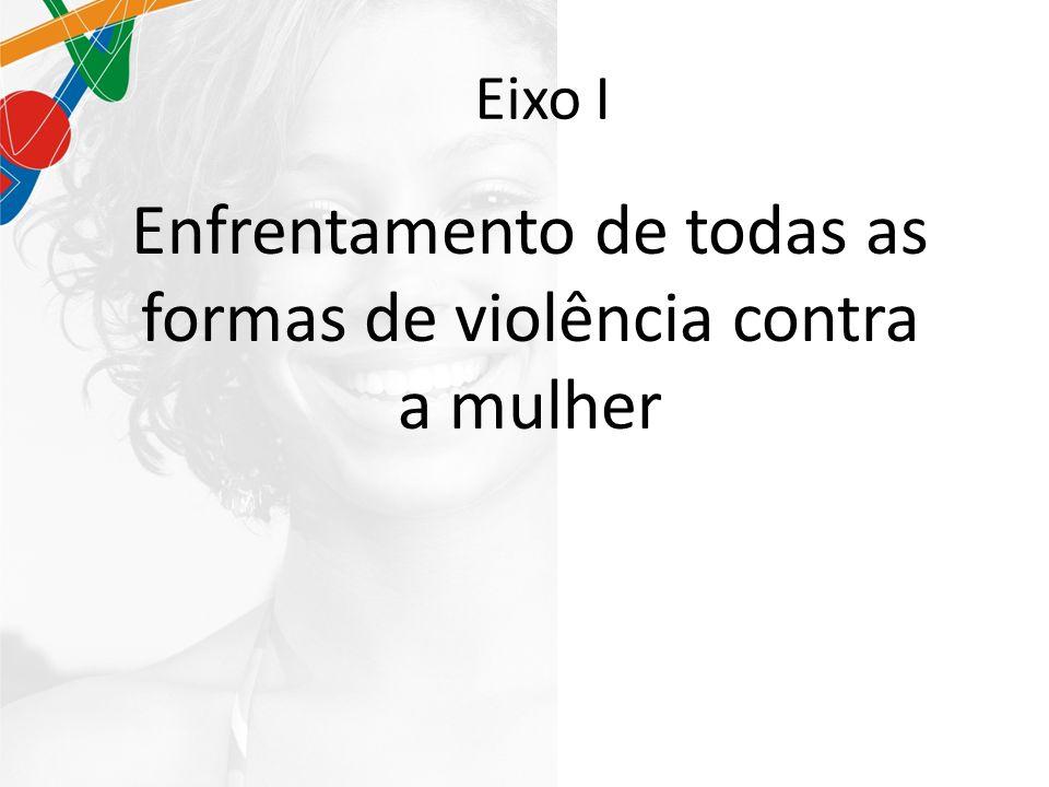 Eixo I Enfrentamento de todas as formas de violência contra a mulher