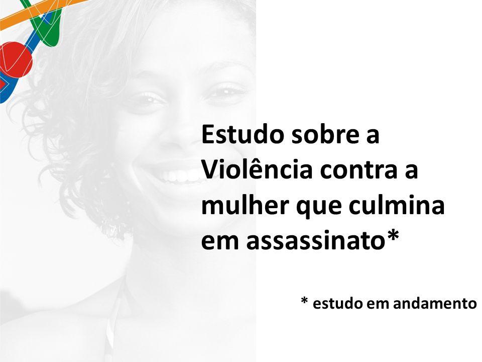 Estudo sobre a Violência contra a mulher que culmina em assassinato* * estudo em andamento