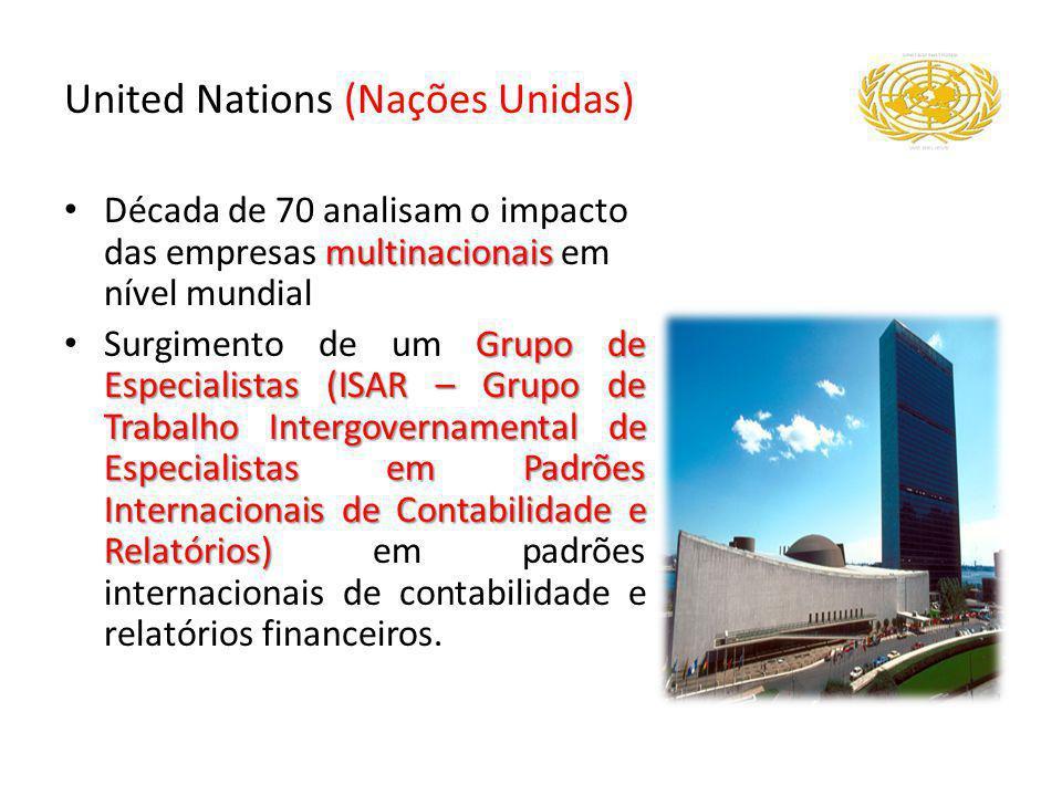 United Nations (Nações Unidas) multinacionais Década de 70 analisam o impacto das empresas multinacionais em nível mundial Grupo de Especialistas (ISA