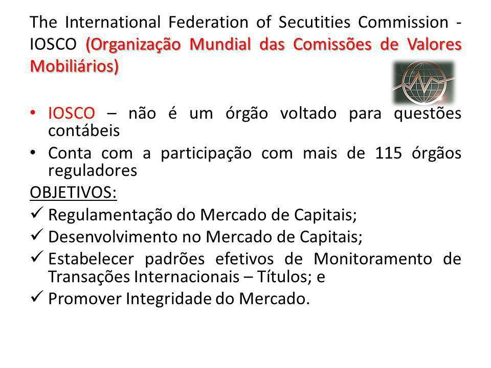(Organização Mundial das Comissões de Valores Mobiliários) The International Federation of Secutities Commission - IOSCO (Organização Mundial das Comi