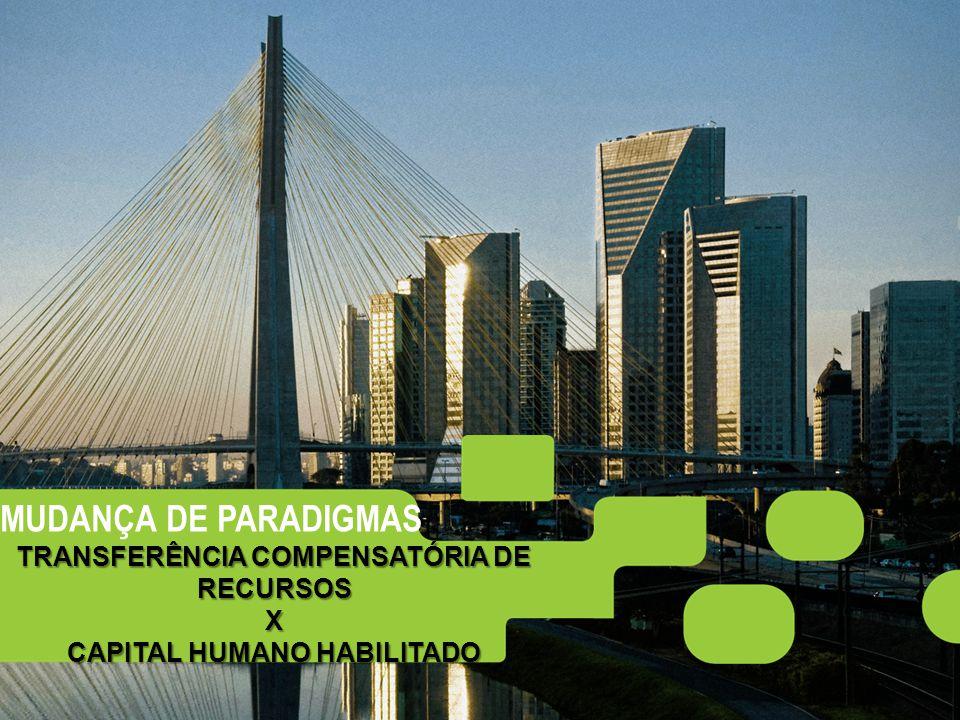 5 MUDANÇA DE PARADIGMAS TRANSFERÊNCIA COMPENSATÓRIA DE RECURSOS X CAPITAL HUMANO HABILITADO