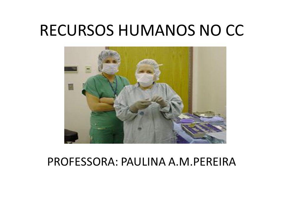 RECURSOS HUMANOS NO CC PROFESSORA: PAULINA A.M.PEREIRA