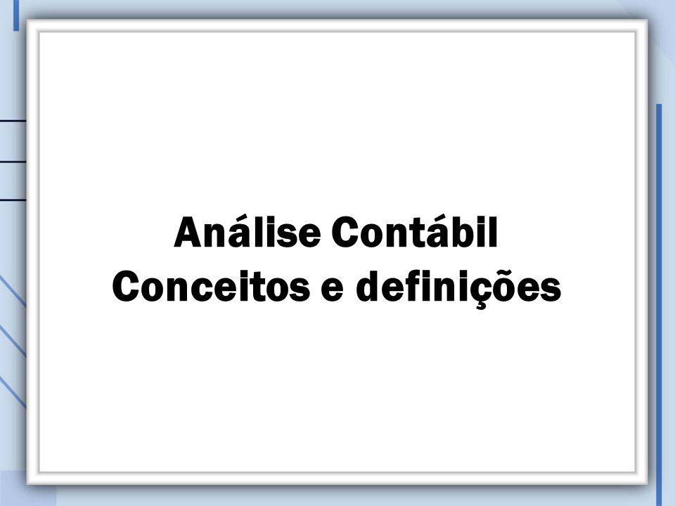 Análise Contábil Conceitos e definições
