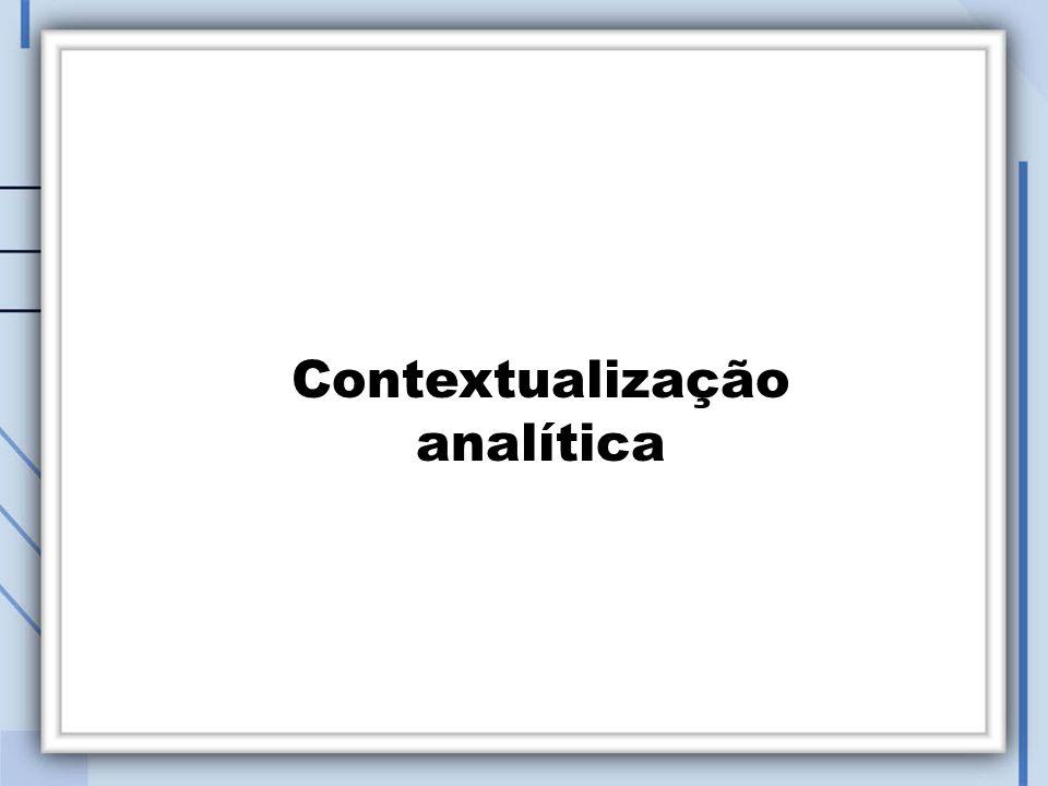 Contextualização analítica