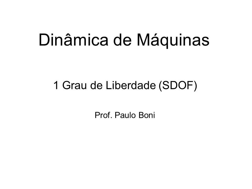 Dinâmica de Máquinas 1 Grau de Liberdade (SDOF) Prof. Paulo Boni