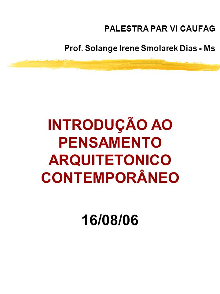 PALESTRA PAR VI CAUFAG Prof.