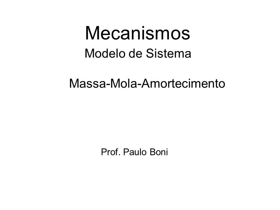 Modelo de Sistema Massa-Mola-Amortecimento Mecanismos Prof. Paulo Boni