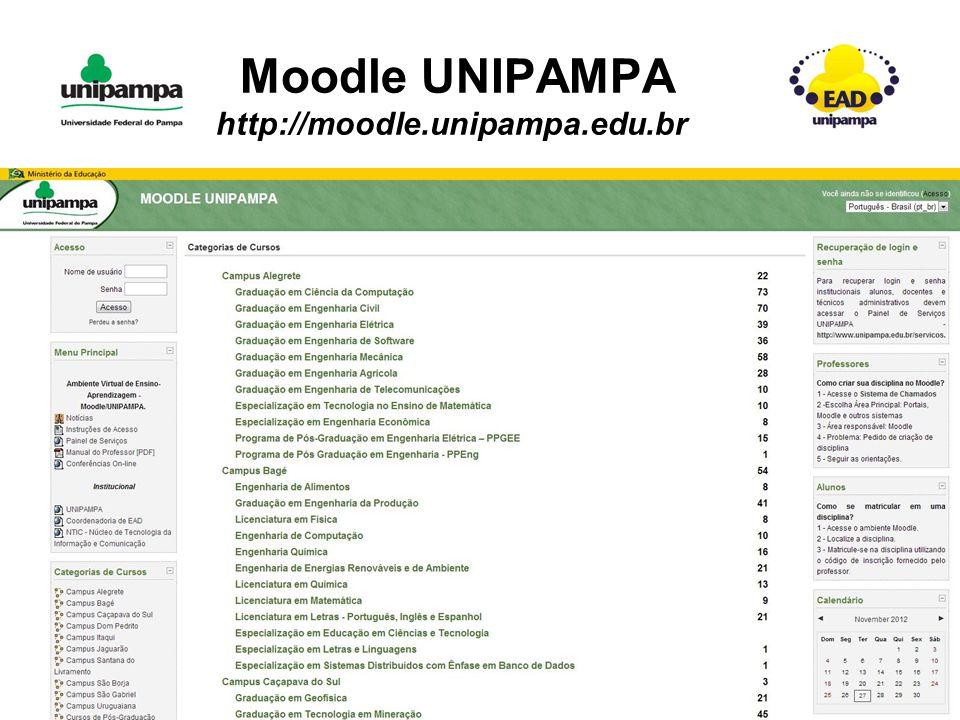 Moodle UNIPAMPA http://moodle.unipampa.edu.br