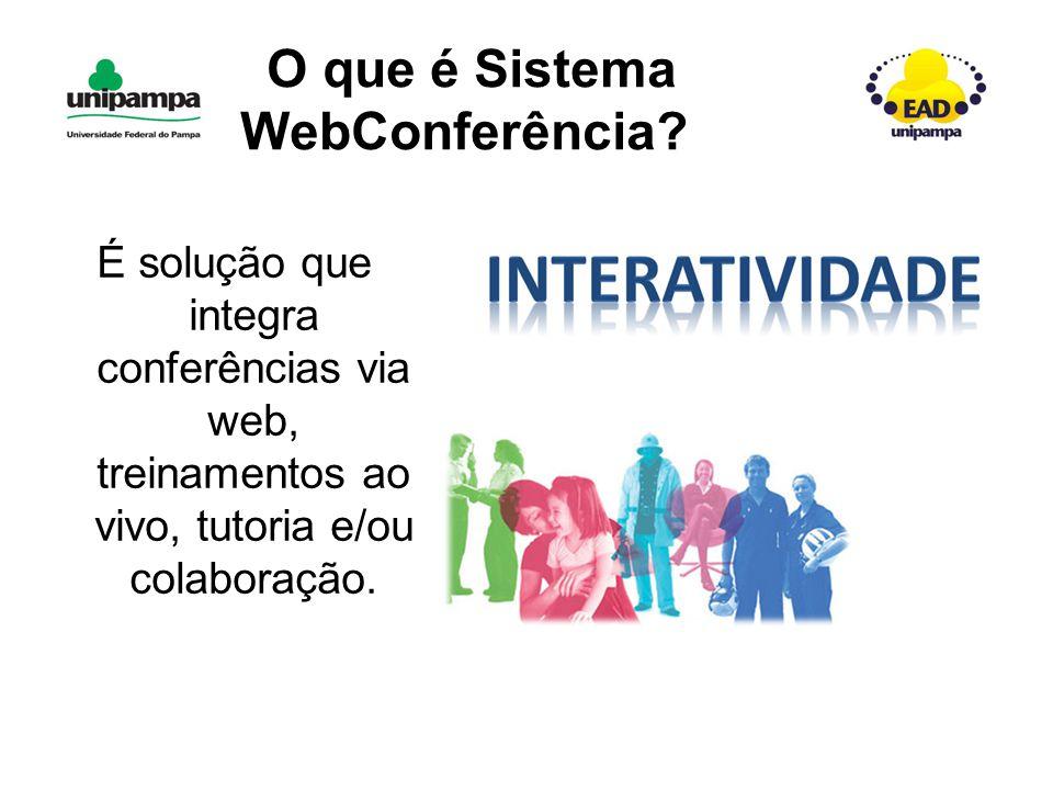 O que é Sistema WebConferência.