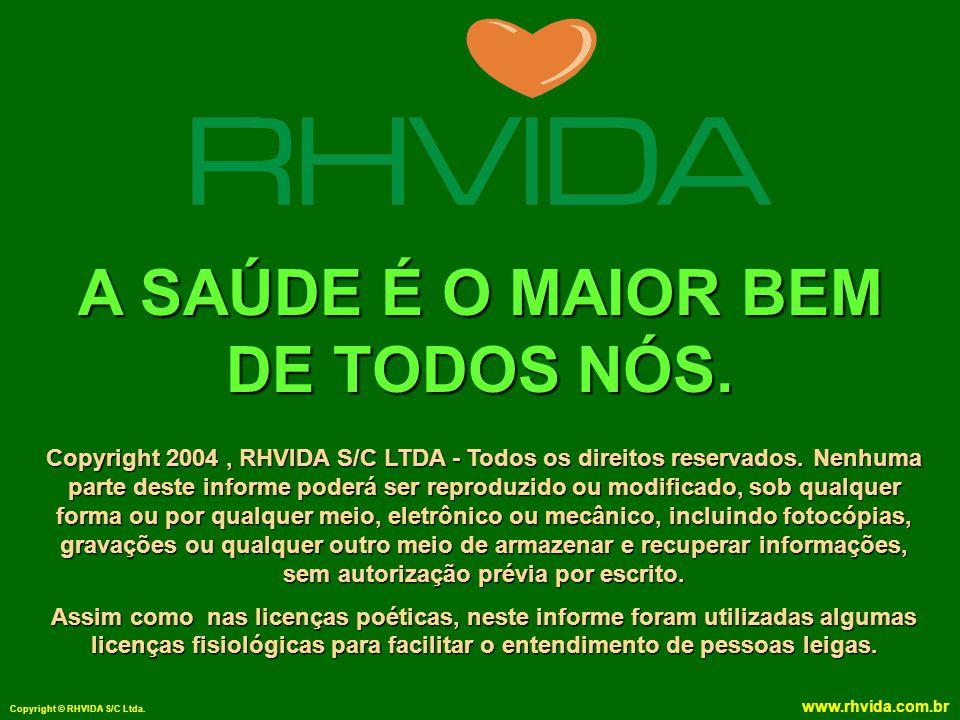 Copyright © RHVIDA S/C Ltda. www.rhvida.com.br A SAÚDE É O MAIOR BEM DE TODOS NÓS. Copyright 2004, RHVIDA S/C LTDA - Todos os direitos reservados. Nen