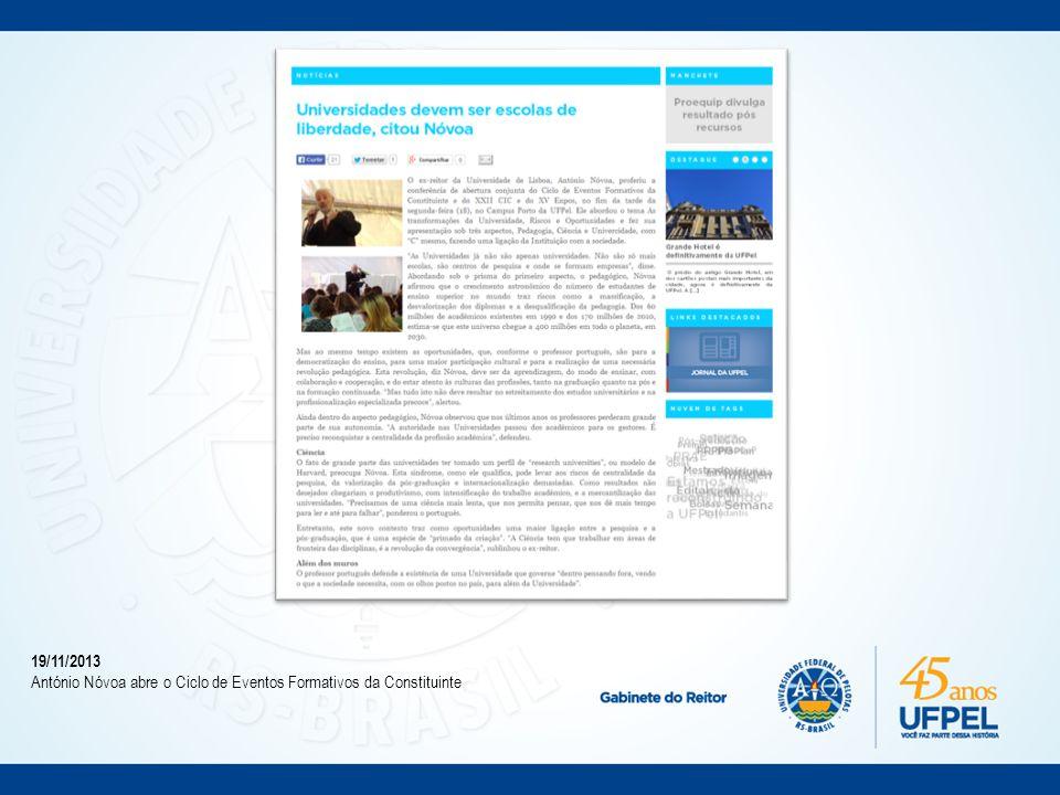 09/05/2014 Conselho Universitário discute a Constituinte.