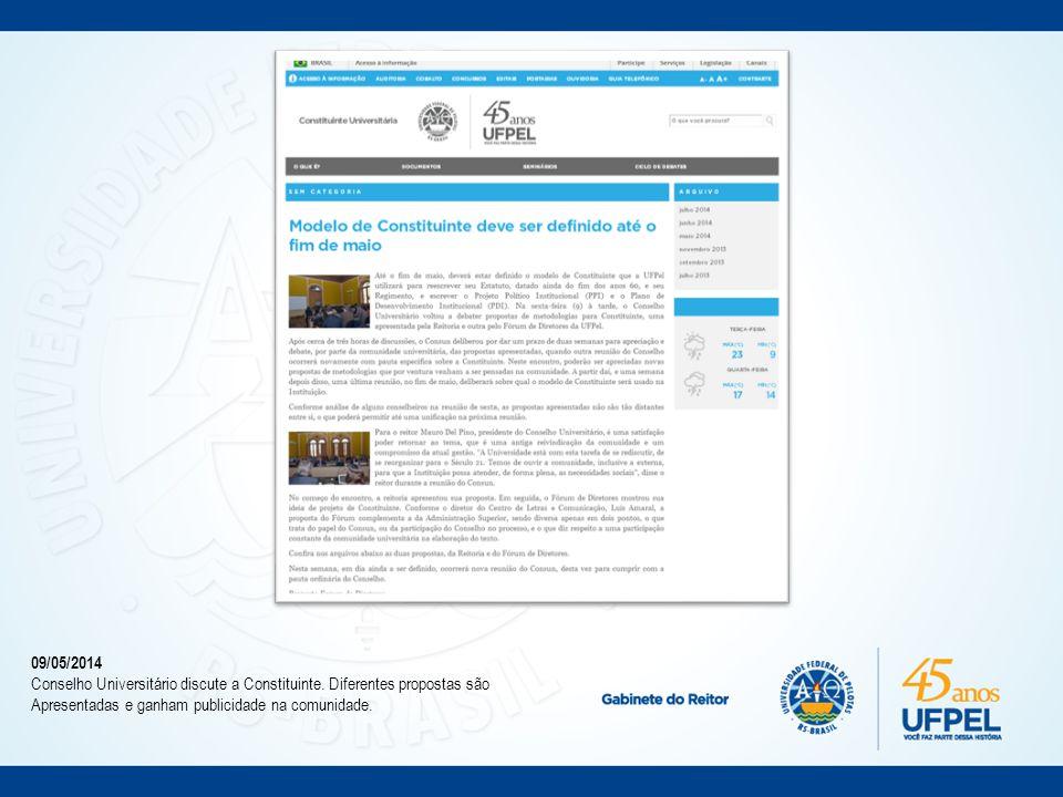 12/05/2014 Comunidade Acadêmica debate o processo da Constituinte
