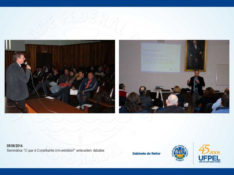 13/06/2014 COCEPE determina abono de faltas de estudantes para participação no Ciclo de Debates