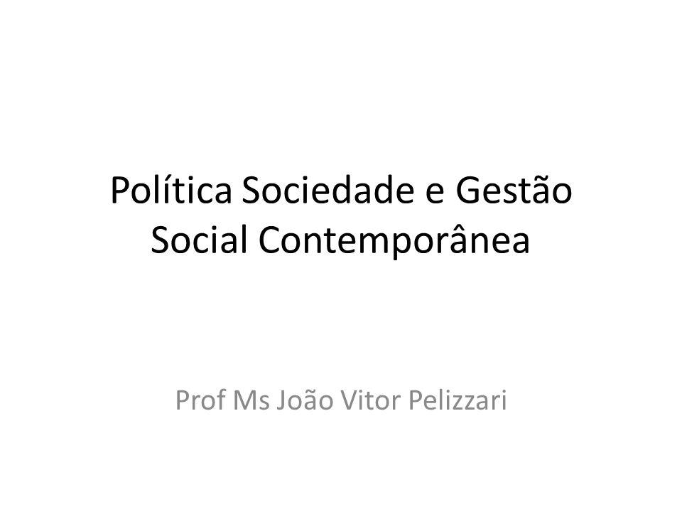 Política Sociedade e Gestão Social Contemporânea Prof Ms João Vitor Pelizzari