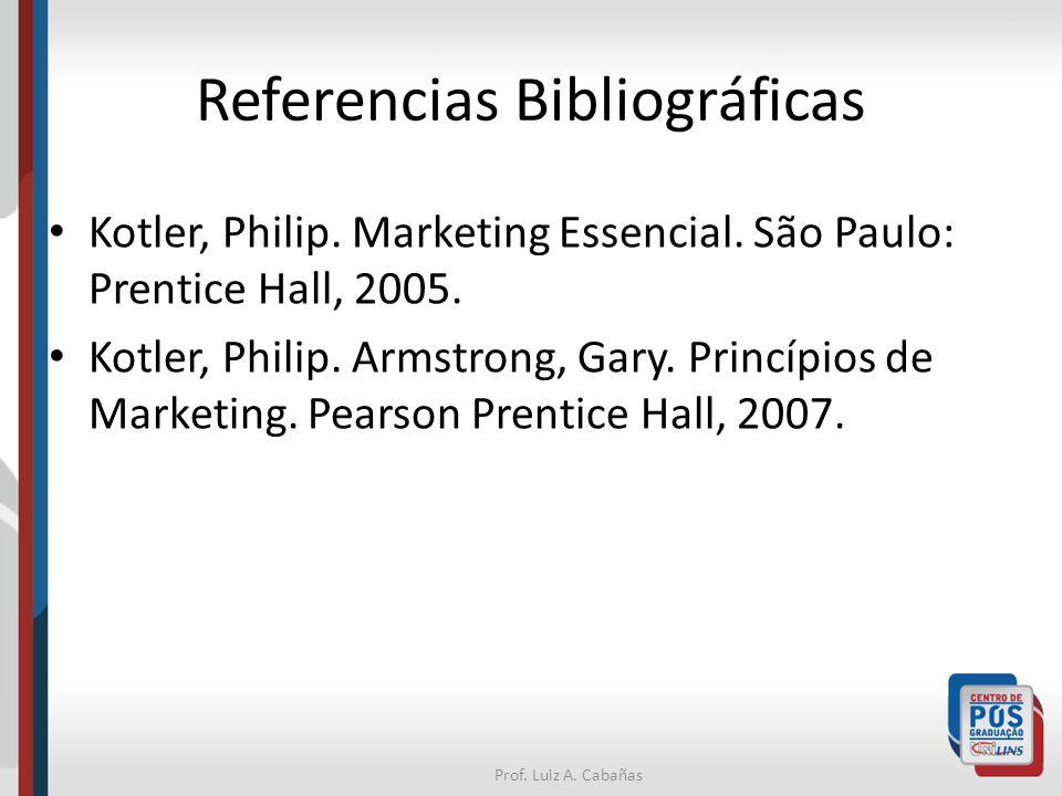 Prof.Luiz A. Cabañas Referencias Bibliográficas Kotler, Philip.