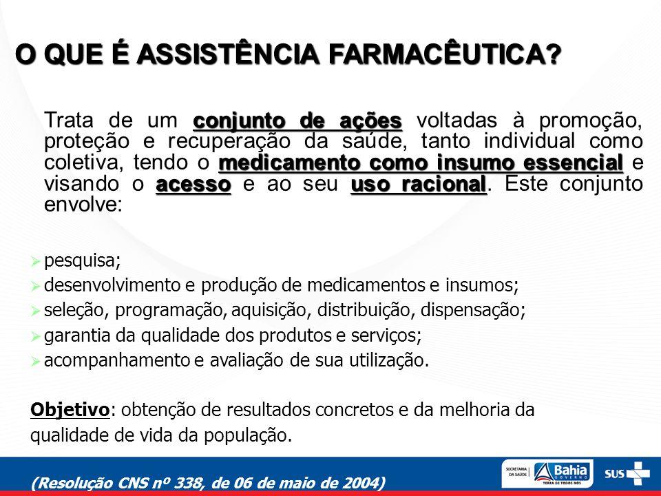 garantia de qualidade uso correto e racional O objetivo final da AF é ofertar à população medicamentos com garantia de qualidade comprovada e sensibilizá-la quanto ao seu uso correto e racional.