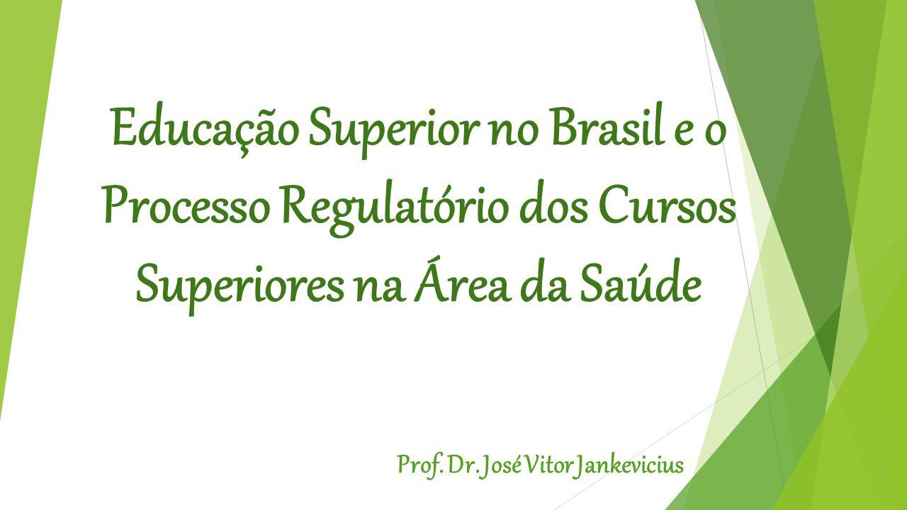 Educação Superior no Brasil e o Processo Regulatório dos Cursos Superiores na Área da Saúde Prof.