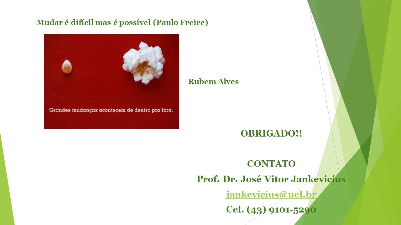 OBRIGADO!. CONTATO Prof. Dr. José Vitor Jankevicius jankevicius@uel.br Cel.