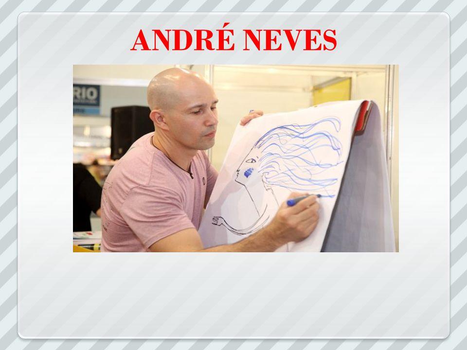 André Neves nasceu em Recife e mora em Porto Alegre, onde trabalha pesquisando, escrevendo e ilustrando livros infantis.