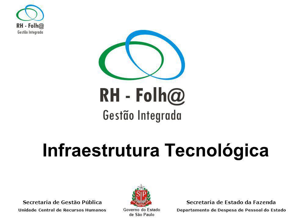 Secretaria de Gestão Pública Unidade Central de Recursos Humanos Secretaria de Estado da Fazenda Departamento de Despesa de Pessoal do Estado Governo do Estado de São Paulo Infraestrutura Tecnológica