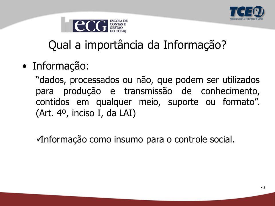 """3 Qual a importância da Informação? Informação: """"dados, processados ou não, que podem ser utilizados para produção e transmissão de conhecimento, cont"""