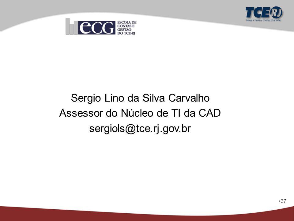 37 Sergio Lino da Silva Carvalho Assessor do Núcleo de TI da CAD sergiols@tce.rj.gov.br