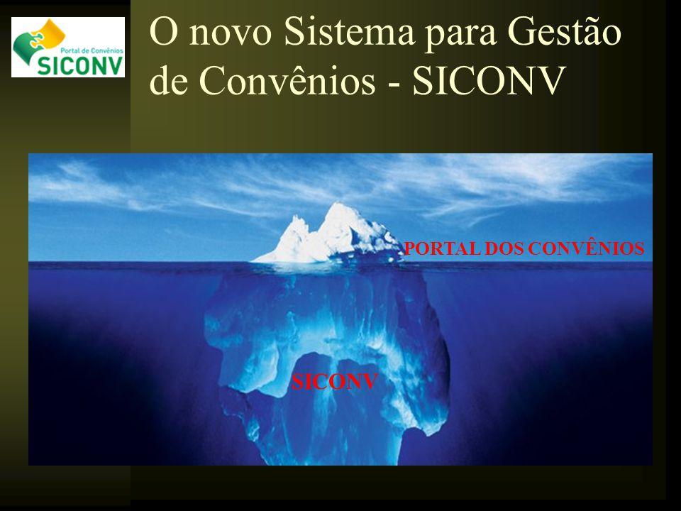 O novo Sistema para Gestão de Convênios - SICONV SICONV PORTAL DOS CONVÊNIOS
