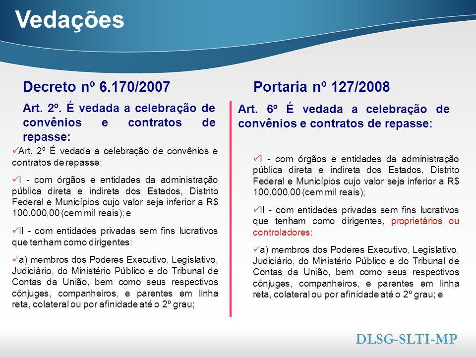 Here comes your footer  Page 7 Vedações I - com órgãos e entidades da administração pública direta e indireta dos Estados, Distrito Federal e Municíp