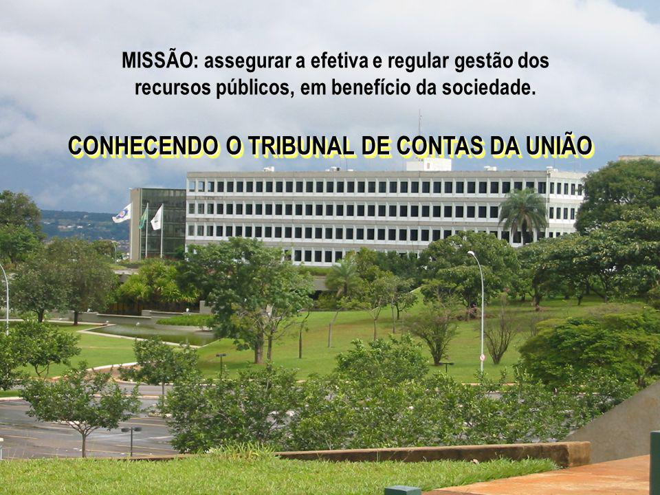 1 MISSÃO: assegurar a efetiva e regular gestão dos recursos públicos, em benefício da sociedade.