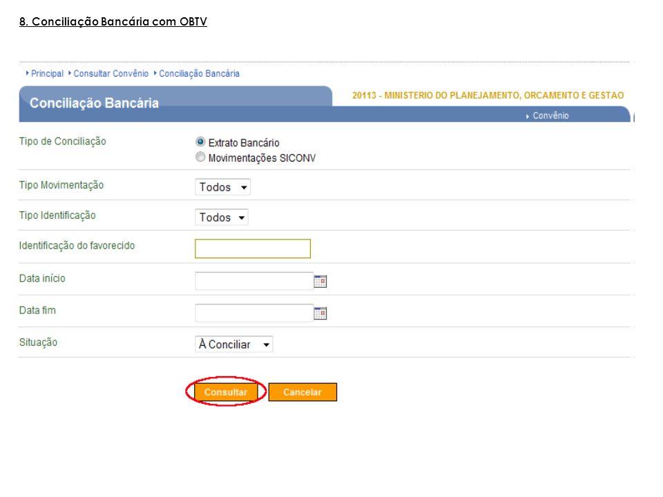 8. Conciliação Bancária com OBTV
