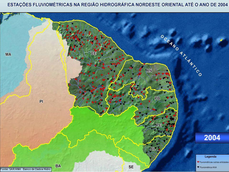2000 Fonte: SAR/ANA - Banco de Dados Hidro