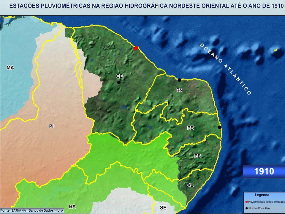 1900 Fonte: SAR/ANA - Banco de Dados Hidro