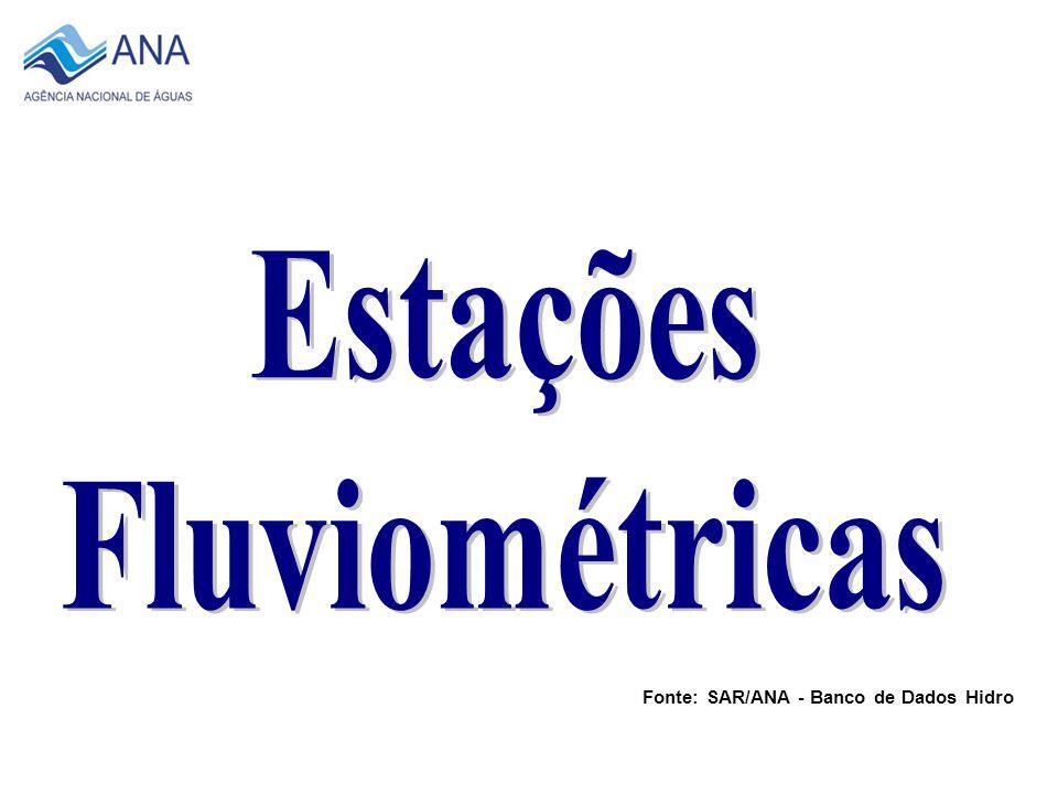 1960 Fonte: SAR/ANA - Banco de Dados Hidro