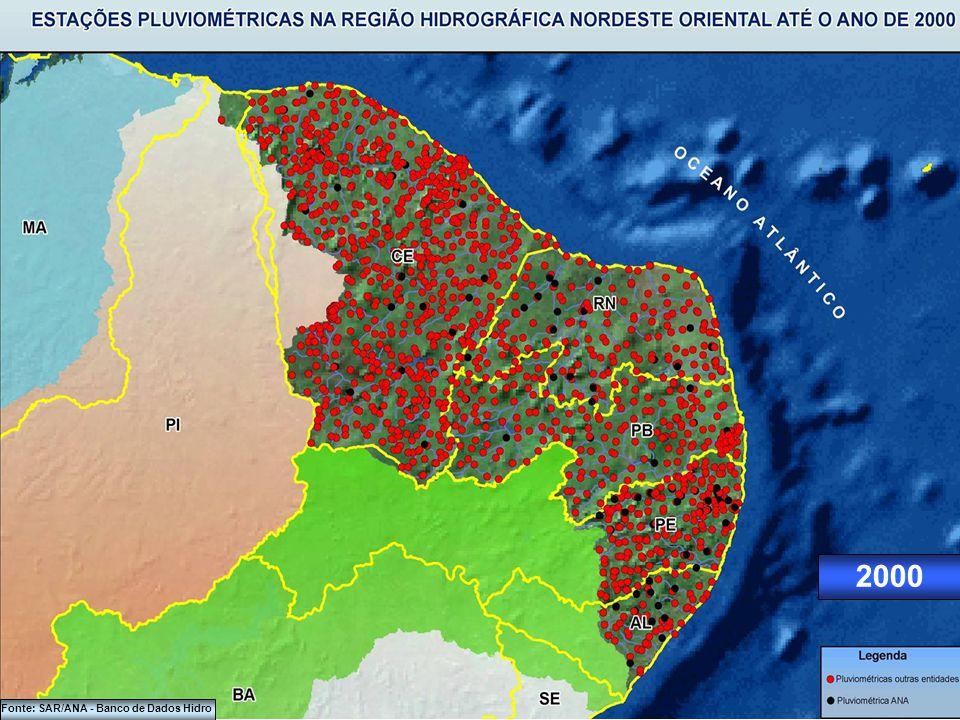 1990 Fonte: SAR/ANA - Banco de Dados Hidro